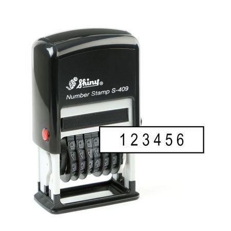 Hộp dấu Shiny S-409 (6 Số) 4Li