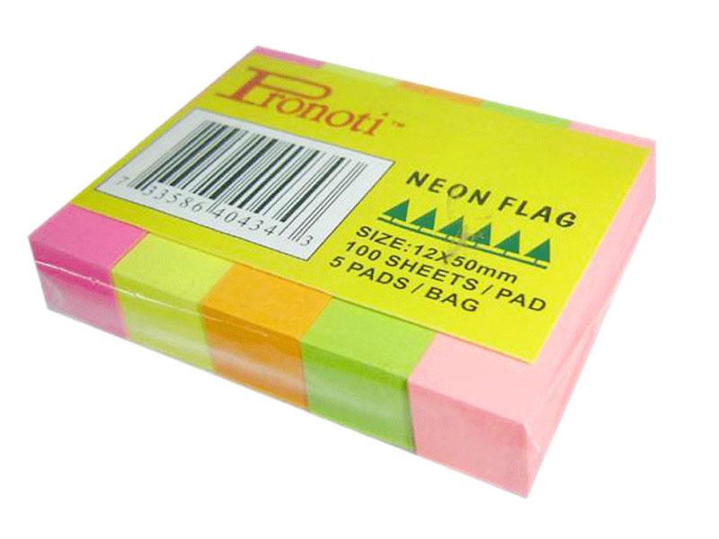 Giấy Note 5 màu giấy dạ quang - Chi Tiết