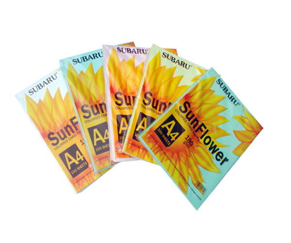 Giấy Bìa màu A4 Sunflower 180gsm