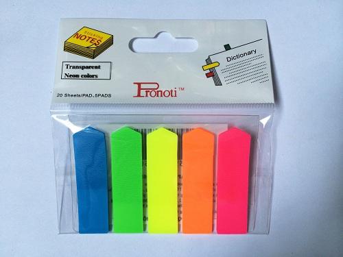 Giấy Note 5 màu nhựa mũi tên - Chi Tiết